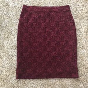 Forever 21 Pencil Skirt with Stretch, Size L